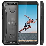 Rugged Smartphone, Blackview BV5500 Outdoor Smartphone, Dual Sim da 4400mAh, 16GB + 2GB, 32GB Espandibili, 8MP+2MP, Android 8.1, Cellulare Antiurto 5.5' HD+ Face ID, GPS/Bussola/WIFI/Hotspot[Italia]