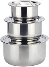 TYJKL Stainless Steel Pot Cookware Sets 3pcs / Sets Conditioning Pot Colorful Cooking Basin Set Home Wash Basin Kitchen Ba...