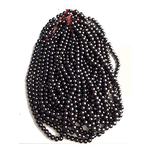 HETHYAN Cuentas sueltas redondas de hematita natural de oro rosa y chapado en plata para hacer joyas, pulseras de bricolaje de 2 a 10 mm (color: negro, tamaño: 3 mm, 110 unidades)