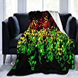 Throw Blanket for Bed Couch Sofa,Queen Size Blankets and Throws Smooth Blanket for Adult Baby Boy Girl Pet Traveling Camping,60x80in,Rasta Reggae Music