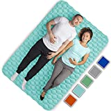 Royexe Heavy Duty Double Sleeping Pad | Ultra Thick Inflatable Camping Mat | 2 Person Compact Bed for...