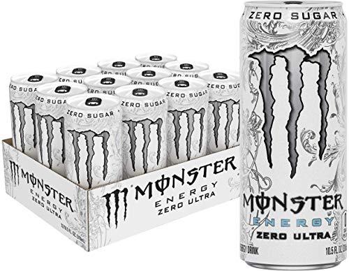 Monster Energy Zero Ultra, Sugar Free Energy Drink, 10.5 Ounce (Pack of 12)