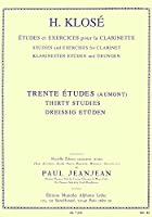 クローゼ : 30の練習曲 (クラリネット教則本) ルデュック出版