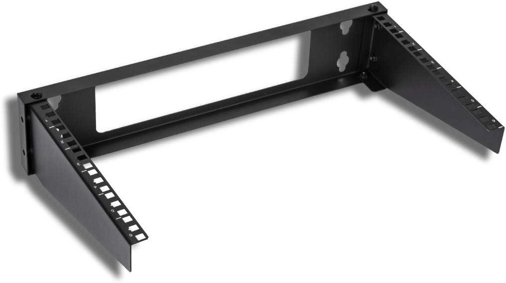 Kenuco 19 Inch Steel Vertical Rack and Wall Mountable Server Rack Mount (Black-6U)