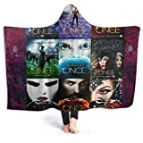 XCNGG Manta con Capucha Hooded Blanket Throw Once Upon a Time Super Soft Sherpa Fleece Blanket Hood Poncho Cloak Cape