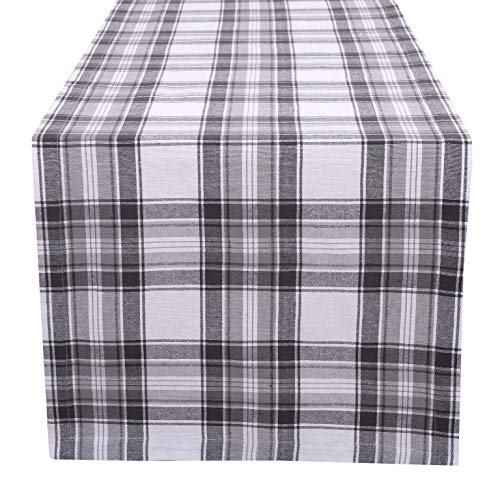 100% Cotton Classic Check Plaid Table Runner 16