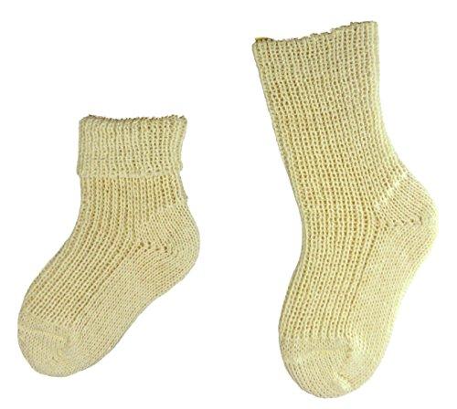 Shimasocks Baby Socken 100prozent Schurwolle Farbe: natur, Größe: 19/22 bzw. 86/92