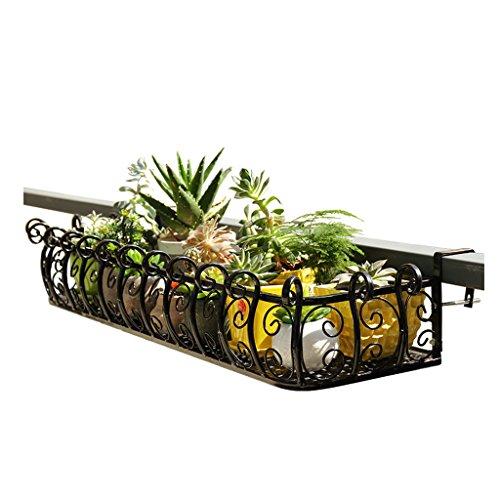 ZUOANCHEN muur gemonteerde bloem standaard, opknoping rekken balkon plant creatieve metalen ijzer vierkant kruis bloem geweldig voor terras balkon veranda of hek