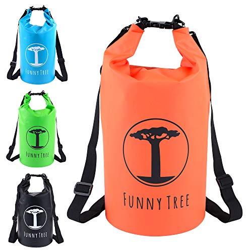 Funny Tree® Dry Bag. Waterdichte (IPx6), geoptimaliseerde draagzak 20L / 10L. Als campingaccessoire, rubberboot, kajak, rafting, kano, zwemmen, strand, boottochten, camping
