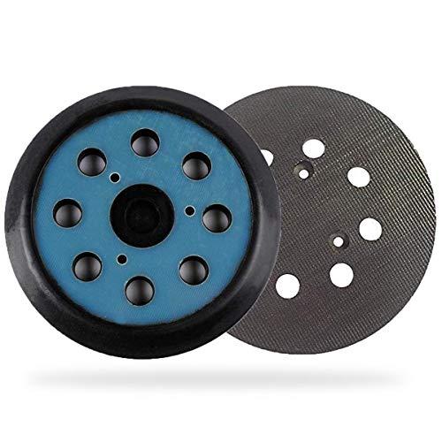 743081-8 Plato de Hook y Loop 125mm Base Redondo con 8 Agujeros Poweka Compatible con Ma-kita Lijadora Orbital Electrónica BO5021/BO5030/BO5031/BO5040/BO5041K