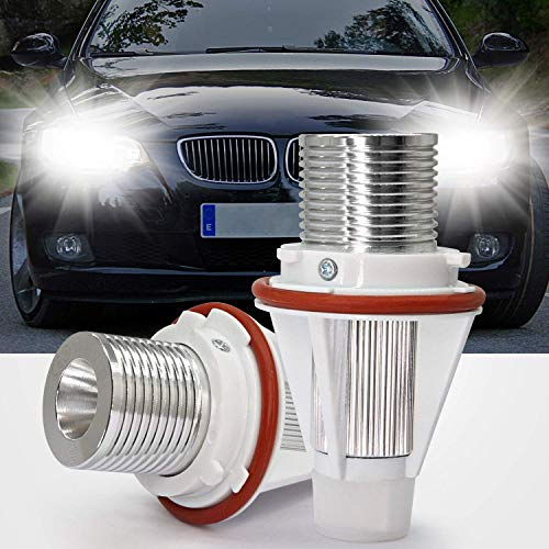 Bombillas LED de Marcador de Anillo Halo CREE 10W Xenón Blanco con Marca CE CANBUS Ajuste Libre de Errores para E39 E53 E61 E60,2 Piezas Bombillas LED Ojos de ángel