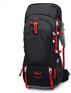 Outdoor Mountaineering Bag Bicycle backpack Hiking Camping backpack Multi-Function Travel backpack 65L Annacboy (Color : Black)