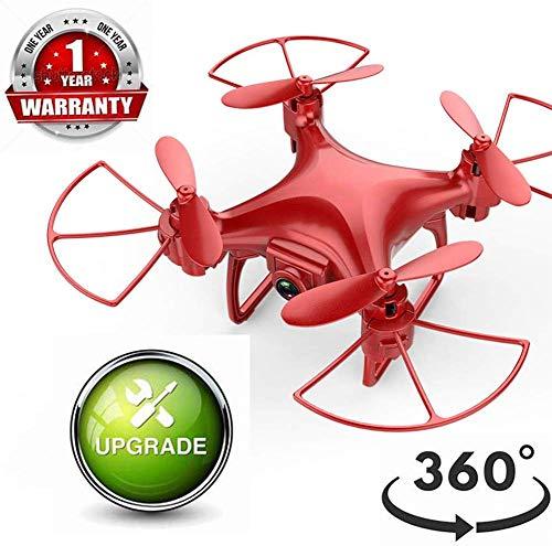 Mini Drones, Vidéo HD en direct avec caméra vidéo, Distance contrôle longue portée à 360 °, Maintien l'altitula gyroscope RC à 4 axes GPS, Drone d'hélicoptère avec caméra, Caméra grand angle en mo