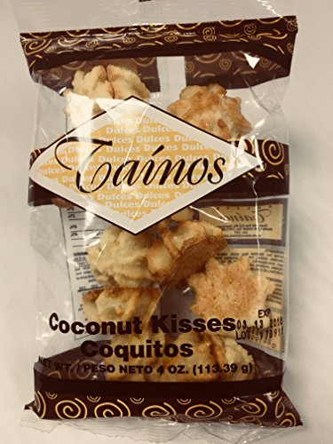 1 Pack of Coconut Kisses (Besitos De Coco) by Tainos