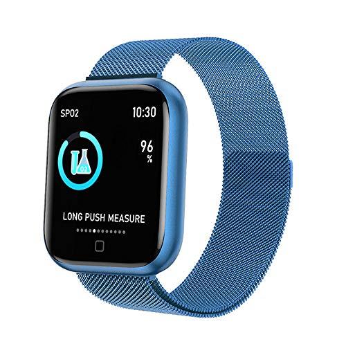DUTUI Sportuhr, Multisportmodus-Kalorienverbrauchsuhr wasserdichte Bluetooth-Uhr, angenehm zu tragen,Blau
