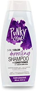 Punky Purpledacious 3-in-1 Color Depositing Shampoo & Conditioner with Shea Butter and Pro Vitamin B that helps Nourish and Strengthen Hair, 8.5 oz