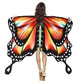 AOCZZ Disfraz de alas de mariposa para niños y niñas, con alas de hada, capa de mariposa para adultos, disfraz de ninfa
