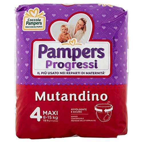 Pampers Progressi - Bragas maxi talla 4 (8-15 kg), 19 pañales