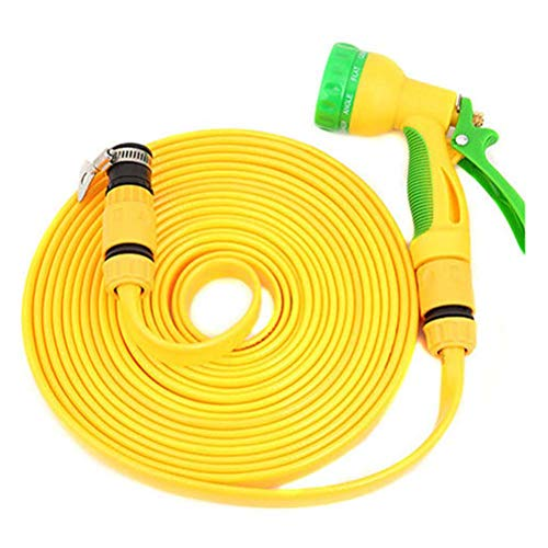 3 Times Expandable Garden Water Hose Pipe, Lightweight Flexible Expanding Water Hose with 8 Pattern Spray Gun for Car/Pet/Lawn Washing,50m