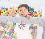 LWQ Tragbar Spielstall Baby Laufstall Netzstoff für Kinder In-& Outdoor 120 * 120 * 70cm Leinengrau(kein Ball)