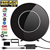 HDTV Antenna,Indoor Digital TV Antenna Amplified 80-150 Miles Range Support 4K VHF UHF
