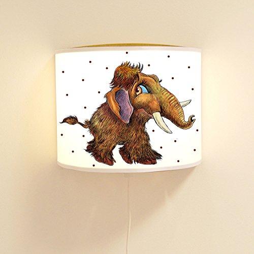ilka parey wandtattoo-welt Wandtattoo-welt® Lampe Murale pour Enfant Mammut Ado avec Pois Ls85