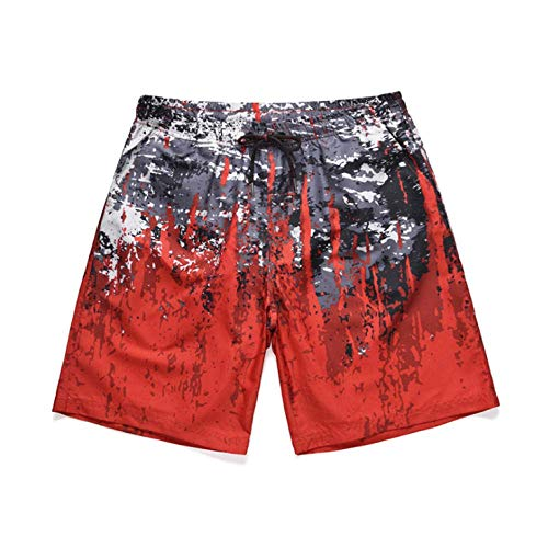 2020 lente zomer strand shorts mannen gedrukt broek casual losse grote maat mannen (Size : XXL)