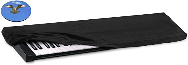 HQRP Elastic Dust Cover w/Bag for Casio Privia PX-150 / PX150 / PX-150BK / PX150BK / PX-150PKG / PX150PKG Electronic Keyboard Digital Piano + HQRP Coaster