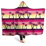 XCNGG Manta con Capucha Tropical Palms at Sunset Hooded Thro