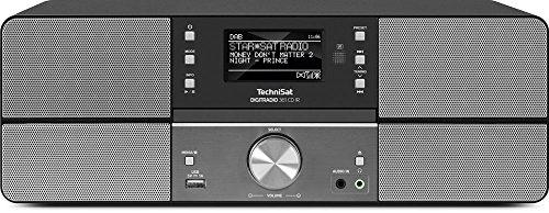 TechniSat DIGITRADIO 361 CD IR - DAB+/Internetradio (WLAN, LAN, DAB, UKW, CD-Player, Bluetooth, Radiowecker, WiFi Streamingfunktion, AUX-In, Stereo, 2 x 5 Watt Lautsprecher, Fernbedienung) anthrazit