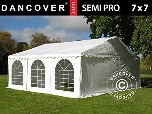 Dancover Carpa para Fiestas Carpa Eventos Semi Pro Plus 7x7m PVC, Blanco