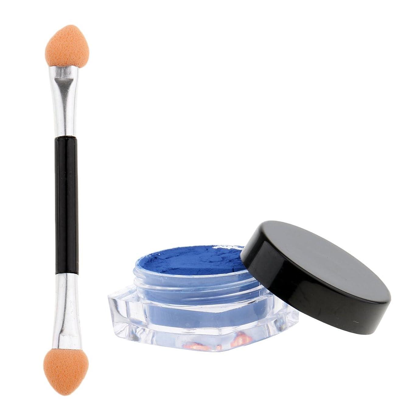 常習者ガード発生Perfeclan ネイル マニキュア顔料 温度色変化 熱顔料 ブラシ 全12色選べる - 青