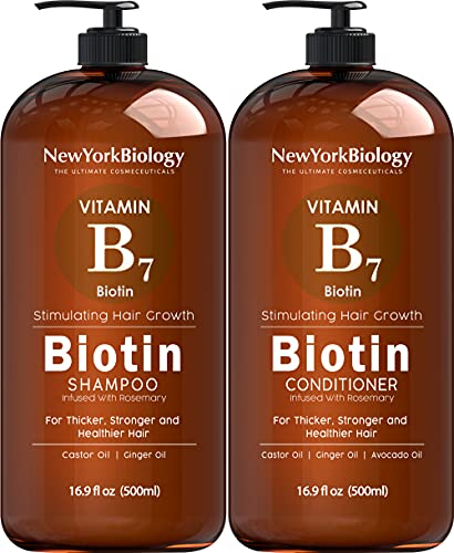 Biotin Shampoo and Conditioner Set for Hair Growth and Thinning Hair – 500 ml