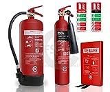 Extintores de incendios con manta de fuego y letreros de identificación para tiendas pequeñas y peluquerías