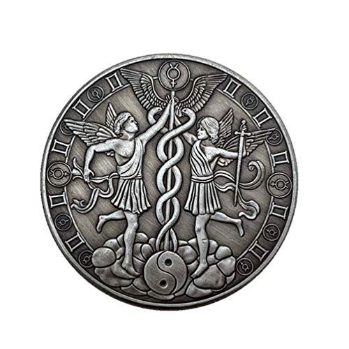 PRETYZOOM Sternbild Münze Zwillinge Münze Geschenk Vintage-Stil Horoskop Münze Geburtstag Zeichen Glück Andenken Münze Stereoskopische Metallmünze Handwerk (Zwillinge)