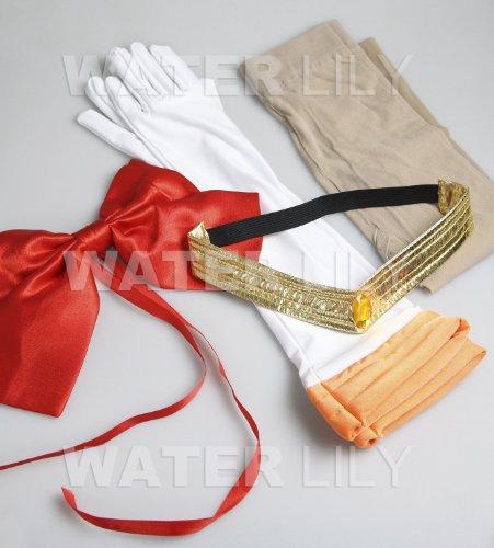 『セーラームーン 風 コスチューム 衣装 10点セットc328el (ヴィーナス 愛野美奈子 風 , Lサイズ)』の4枚目の画像