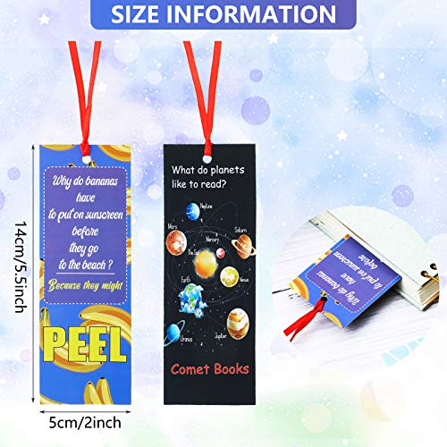 60 Pieces Silly Jokes Bookmarks Cartoon Hilarious Page Markers Funny Reading Bookmarks for Teachers Students Readers Classroom Rewards Supplies,12 Styles Photo #6