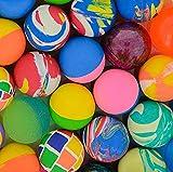 Storm&Lighthouse 50x Bolas de Rebote de Goma - avores de Fiesta / Juguetes para niños / Regalos Divertidos (Colores y diseños Surtidos)