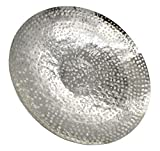 Deko Schale Silber aus Metall Ø 50cm - 2