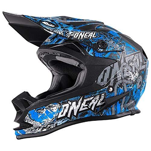 O'NEAL 7 Series Evo Menace Motocross Enduro MTB Helm schwarz/blau/weiß 2018 Oneal: Größe: L (59-60cm)