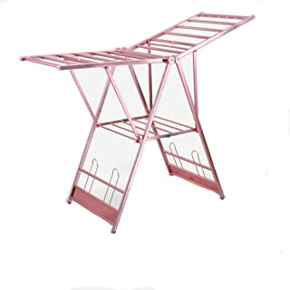 NIBABA Étendoir Racquette de Rack de Couette en Forme d'aile ménagère Pliante Pliante en Alliage d'aluminium intérieur Mob...