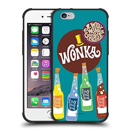 Head Case Designs Ufficiale Willy Wonka And The Chocolate Factory Bevanda Lifting Frizzante Grafiche Cover Resistente agli Urti Nero Opaco Compatibile con Apple iPhone 6 / iPhone 6s