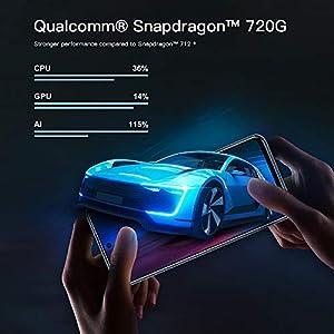 "Xiaomi Redmi Note 9 Pro Teléfono 6GB RAM + 128GB ROM, 6,67"" Pantalla Completa, Procesador Snapdragon 720G Octa-Core, 16MP Frontal y 64MP + 8MP + 5MP + 2MP AI Quad Cámara Trasera Versión Global (Gris)"