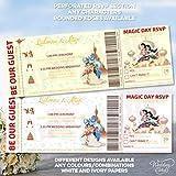 Aladdin and Princess Jasmine - Tarjeta de invitación para entradas de cumpleaños con temática personalizada