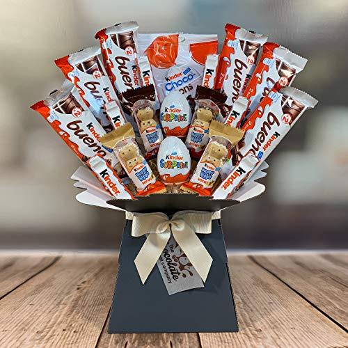 Large Kinder Chocolate Lovers Bouquet Gift Hamper In Presentation Box