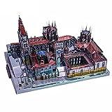 FXQIN Rompecabezas 3D de Metal DIY Modelo de Arquitectura de la Catedral de Burgos de España Kits de construcción para niños Adultos, 229 Piezas