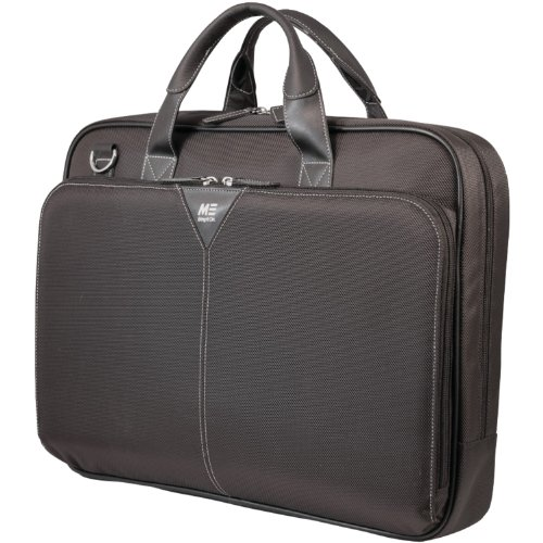 Mobile Edge Black Select Nylon Laptop Briefcase 16 Inch PC and 17 Inch Mac,...