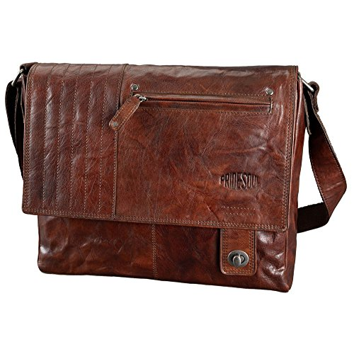 Pride and Soul Postbag XL Zusatztasche, Shiny Chestnut