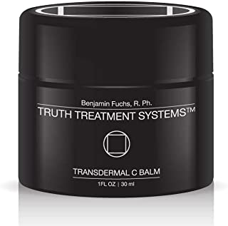 Transdermal C Balm by Benjamin Knight Fuchs R.Ph. Truth Treatment Systems, Vitamin C Skin Cream, Anti-Aging Transdermal Moisturizer for Dry Skin, Hydrating Cream Bright & Smooth Complexion (15ML)