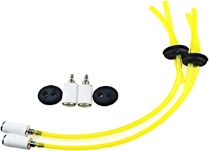 XLX Pack of Fuel Line Two Hole Grommet 2Pcs Fuel Filter Assembly for Earthquake Auger E43 MC43 3004105 300494 Lawnmower Chainsaw trimmer